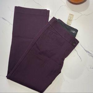 LOFT Size 4P Dark Purple Boot Cut Pants